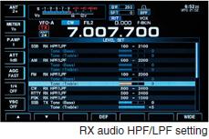 RX audio HPF/LPF setting