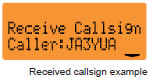 Received Callsign Example