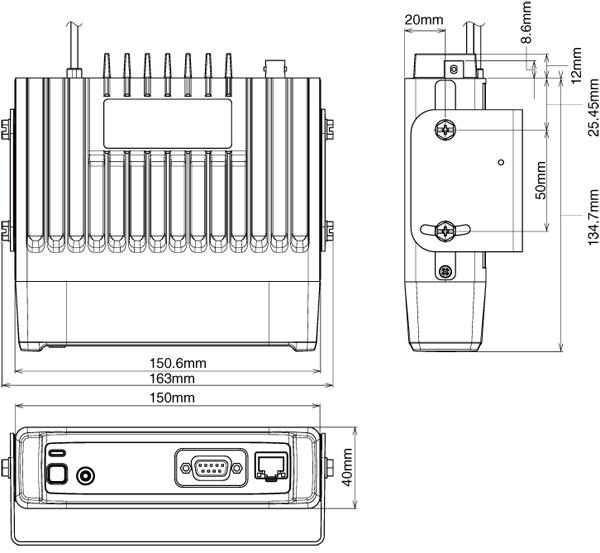 IC-F5122D Dimensions