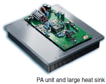 PA unit and large heat sink